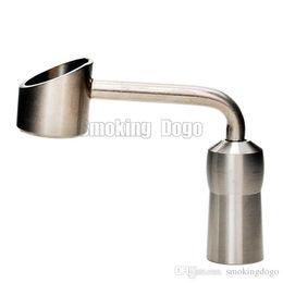 Rigs Bongs Australia - Smoking Dogo 2016 Latest Female Joint Size 14mm Domeless Titanium Banger Nail for Glass Bongs and Oil Rigs