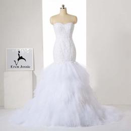 $enCountryForm.capitalKeyWord Australia - Eren Jossie 2019 New Collection Ivory White Stunning Bridal Dress Wedding Ruffled Ball Gown Sweetheart Style Corset Back