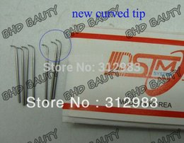 Hair Weave Tips Australia - needle 100 12pcs Korean ventilating weaving needle with curved tip for making lace wig hair accessories accessory tools 4size