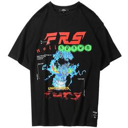 991646f54 2019 Men Hip Hop T Shirt Hell Spawn Skull Harajuku T-Shirt Streetwear Summer  New Tops Tees Cotton Tshirt Oversized HipHop Loose
