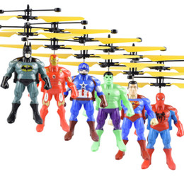 $enCountryForm.capitalKeyWord NZ - 2019 The Avengers RC helicopter Drone kids toys Flying Ball Aircraft Led Flashing Light Up Toy Induction Electric sensor for Children