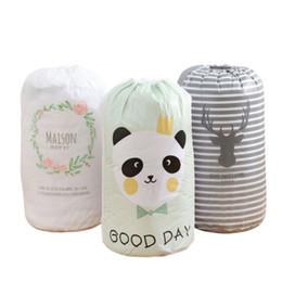 $enCountryForm.capitalKeyWord NZ - Portable Lightweight Large Capacity Nylon Laundry Bag Cute Print Dirty Clothes Drawstring Organizer Travel Bag