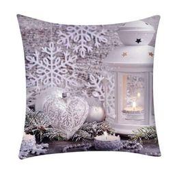 db5bafa32e18 Hot sale Christmas Print Pillow Case Polyester Cushion and Cover Home  fundas cojines decorativos pillowcase drop shipping