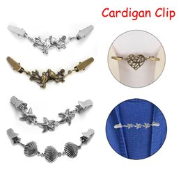 $enCountryForm.capitalKeyWord Canada - Women Vintage Cardigan Sweater Blouse Pin Shawl Brooch Clips Shirt Collar Retro Duck Clip Winter Scarf Clasps Charm Accessories