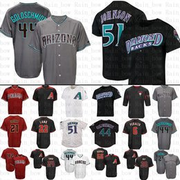 d2115705 Mens Arizona Baseball Jersey Diamondbacks 44 Paul Goldschmidt 51 Randy  Johnson Jerseys size m-xxxl