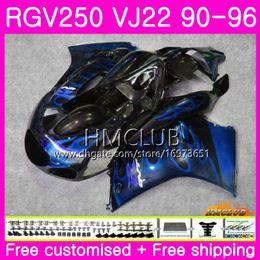 $enCountryForm.capitalKeyWord Australia - Bodys For SUZUKI SAPC RGV-250 VJ22 RGV 250 88 89 90 94 95 96 18HM.163 VJ21 RVG250 RGV250 1988 1989 1990 1994 1995 1996 blue flames Fairing