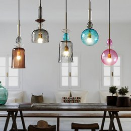 candy kitchen Australia - Modern Stained Candy Pendant Lights Led Glass Pendant Lamp Living Room Restaurant Decoration Lighting Kitchen Fixtures Luminaire