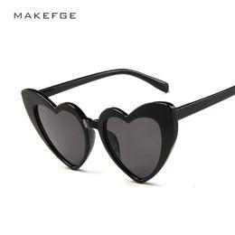 daf9617328 2019 New Fashion Ladies Love Heart Sunglasses Retro cat eye Sun Glasses  Shade for women Brand Designer High Quality Trendy UV400