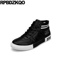 skate high quality black fashion european luxury sneakers trainers runway elevator  men hidden height increasing shoes cowhide 219005168dd1