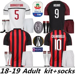 jersey away ac milan 2019 - AC Milan THIRD soccer Jersey 18 19 Home men set f5a453975