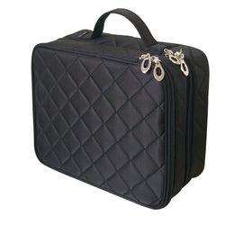$enCountryForm.capitalKeyWord Australia - Beautician Necessary Double Layer Cosmetic Bag Box Women Beauty Vanity Make Up Tools Organizer Case Travel Toiletry Wash Storage J190701