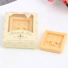 Chinese New Year Gift Pack Australia - Fleur de Lis Scented Soap Savon Iris tectorum Soap Wedding Favors Baby Shower Party Gifts Gift Box Packing DHL free shipping