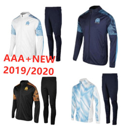 China 2019 2020 new Olympique de Marseille tracksuit soccer jacket Maillot De Foot 19 20 PAYET L.GUSTAVO THAUVIN OM Football jacket Training suit cheap new tracksuits suppliers