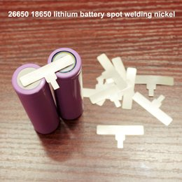power sheets UK - Accessories 10pcs lot 26650 power spot welding sheet 18650 lithium battery T-shaped nickel-plated steel spot welding nickel