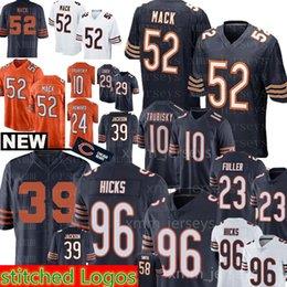 Chicago Bears 52 khalil Mack 96 Akiem Hicks jersey 39 Eddie Jackson 54  Brian Urlacher 34 Walter Payton 24 Howard 23 Kyle Fuller 509da6652