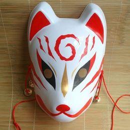 Painting Faces Australia - Hand- painted Fox Mask Endulge Japanese Full Face PVC Halloween Animal Mask Masquerade Cosplay Party Masks Free Shipping