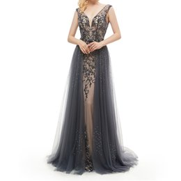 $enCountryForm.capitalKeyWord Australia - Amazing Deep V-Neck Backless Russian Prom Dress Crystal Beading Patterns Black Prom Dress Pinterest Party Dresses for Women Evening Berta