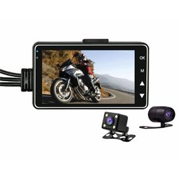 moto gp wholesale UK - HD Waterproof Motorcycle Dual Camera DVR Motor Dash Cam with Special Dual-track Front Rear Moto Driving Recorder Cycle Video car dvr