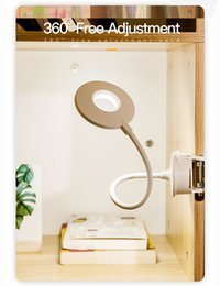 $enCountryForm.capitalKeyWord Australia - LED Touch On off Switch 3 Modes Clip Desk Lamp 7000K Eye Protection Desk Light Dimmer Rechargeable USB Led Table Lamp