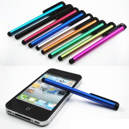 Wholesale Big sale metal colorful styluses capacitive tablet stylus pen touch screen pen for iphones ipad Samsung