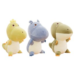 CroCodile Cartoon red online shopping - Cute Hippos Crocodiles Dinosaurs Stuffed Animals plush toy Cartoon Plush Doll Yellow Green Gift Birthday gift Soft Lovely kids toys