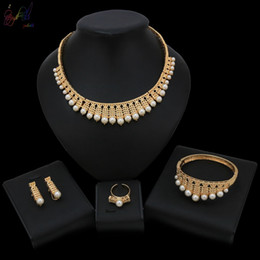 $enCountryForm.capitalKeyWord Australia - 2019 New Arrival Classic Pearl Style Simple Design For Women Bridal Big Occasion Jewelry Sets