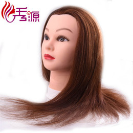 $enCountryForm.capitalKeyWord NZ - Back Forward Direction Training Head With 100% Human Hair Brown Color Training Mannequin Head Styling Training Head For Hairdressers Dolls