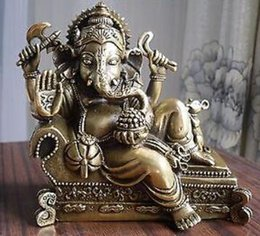 $enCountryForm.capitalKeyWord Australia - COPPER STATUE Tibetan Buddhist bronze GANESHA INDISCHER GOTT statue on bed 12 cm tall