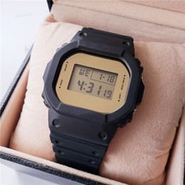 Wholesale Men s digital sports watch cool shockproof square LED waterproof DW5600 Watch with box