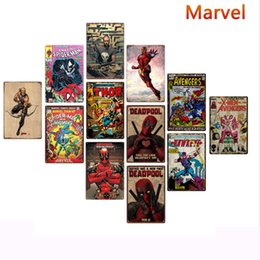 Pictures marvel online shopping - 20 cm Marvel super hero Metal Tin Signs Vintage Posters Old Wall Metal Plaque Club Wall Home art metal Painting Wall Decor Art Pictures