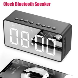 $enCountryForm.capitalKeyWord Australia - Clock Bluetooth Speaker Subwoofer Mirror Alarm Clock Speakers Outdoor Travel Portable Speakers TF Card AUX Port Bedside Wireless Speaker