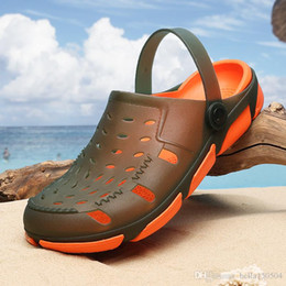 73fded23598 Jelly beach Sandals Men Casual shoes Beach Slippers Male Light Weight  Summer Eva Garden Shoes Breathable Hole Mens Sandals flip-flops