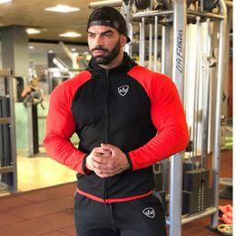 $enCountryForm.capitalKeyWord Australia - Brand Fall Winter Running Jacket Men Joggers Long Sleeve Hooded Tight Hoodies Coat Gym Training Sport Jackets Men Fitness Top