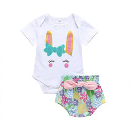 Old Suits Australia - 0-3 Years Old Baby Girls Romper Summer Little Girls Cartoon Anime Triangle Jumpsuit European and American Style INS Girl Suit