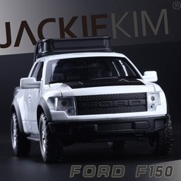 red toy trucks Australia - High Simulation Exquisite Diecasts&Toy Vehicles Double Horses Car Styling Ford F150 Raptor Pickup Truck 1:32 Alloy Diecast