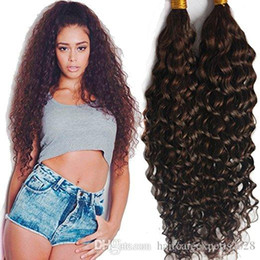$enCountryForm.capitalKeyWord NZ - ELIBESS-Virgin Human Hair Bulk Dark Brown #2 Deep Curly Bulk Hair Weaving For Braiding Unprocessed No Weft Human Hair 100g one piece