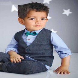 $enCountryForm.capitalKeyWord Australia - Suit For Boys Children Spring Gentleman Denim Suit For Boy Formal Kid Wedding Clothes Elegant Boy Evening Clothing Party