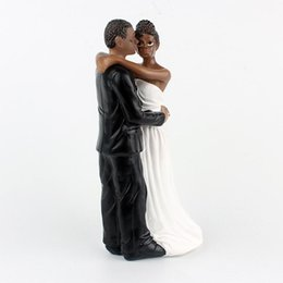 Wholesale TPFOCUS African American Wedding Bride and Groom Cake Topper Figurine Resin Wedding Anniversary Gift inch