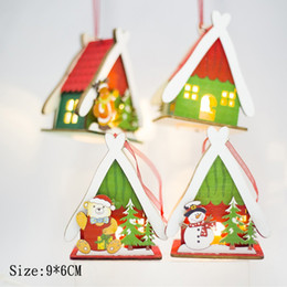 small wood house UK - Festival Small Wood House Christmas Tree Decorations For Home Hanging Ornaments Holiday Nice Xmas Gift Supplies
