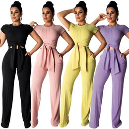 e8b9c3c6ad8 Women clothes boWs online shopping - Women Sports Outfits Short Sleeves Bow  Tops Pants Two Piece