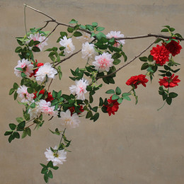 $enCountryForm.capitalKeyWord Australia - Fake flower rattan wreath simulation rose vine farmhouse decor flower door wreath pipe winding flower vine wall hanging vine