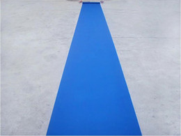 Fabric Decorations For Parties Australia - 20 Meters roll Blue Wedding Theme Nonwoven Fabric Carpet Aisle Runner For Wedding Party Decoration Supplies Free Shipping