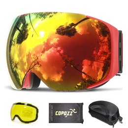 $enCountryForm.capitalKeyWord Australia - COPOZZ Magnetic Ski Goggles with Quick-change Lens and Case Set 100% UV400 Protection Anti-fog Snowboard Goggles for Men & Women