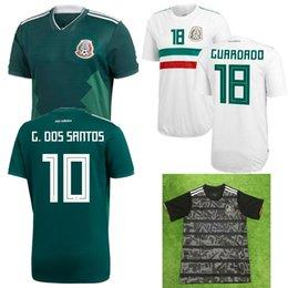 2019 Mexico Gold Cup Jersey 18 19 Mexico home green away white soccer  jersey HERNANDEZ G.DOS SANTOS M.LAYUN CARLOS football top a36812525