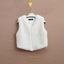 Wholesale faux fur gilet women resale online - Women Faux Fur Outwear Coat Sleeveless Vest Waistcoat Gilet Jacket Fashion Lurex Flocking Winter Vest