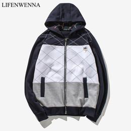 Cool Sweatshirt Jackets Australia - 2019 Mens Sports Casual Wear Zipper Fashion Tide Patchwork Hoodies Cool Jacket Fall Sweatshirts Spring Autumn Hooded Coats M-5XL