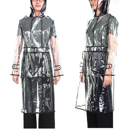 $enCountryForm.capitalKeyWord Australia - EVA Transparent Raincoat Long Raincoat for Women Waterproof Jacket Windbreaker Rain Poncho With Belt Outdoors capa de lluvia