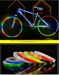Wholesale 1CM M Night Light Safety Equipment Bicycles Motorcycles Wheels Body Reflective Stickers Reflective Warning Self adhesive Tape