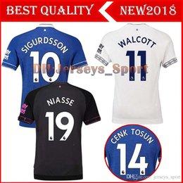 2018 2019 Everton Soccer Jersey SIGURDSSON WALCOTT BAINES JAGIELKA BOLASIE  KLAASSEN RICHARLISON Custom Blue Grey White 18 19 Football Shirt 652af66a6