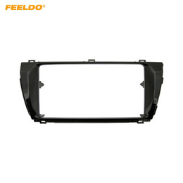 ToyoTa audio adapTer online shopping - FEELDO Car Stereo Dash Panel Fascia Frame Adapter for TOYOTA Corolla Altis Levin LHD Audio Refitting Frame Trim Kit